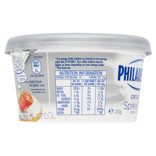 Philadelphia Original Spreadable Cream Cheese 250g , Frdg1-Cheese - HFM, Harris Farm Markets  - 2
