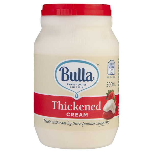 Bulla Cream Thickened 300ml , Frdg2-Dairy - HFM, Harris Farm Markets  - 1