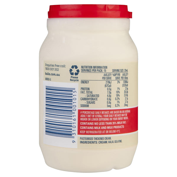 Bulla Cream Thickened 300ml , Frdg2-Dairy - HFM, Harris Farm Markets  - 2