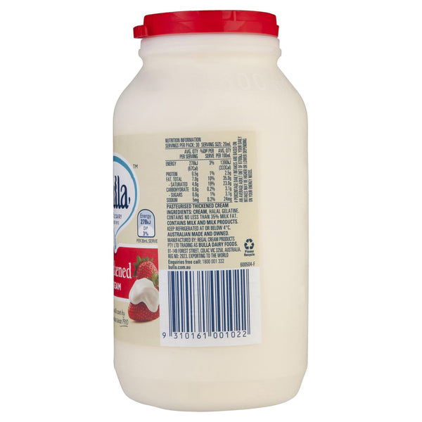 Bulla Cream Thickened 600ml , Frdg2-Dairy - HFM, Harris Farm Markets  - 2