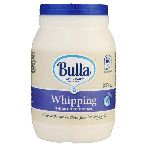 Bulla Cream Whipping 300ml , Frdg2-Dairy - HFM, Harris Farm Markets  - 1