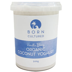 Born Cultured Vanilla Bean Coconut Yoghurt | Harris Farm Online