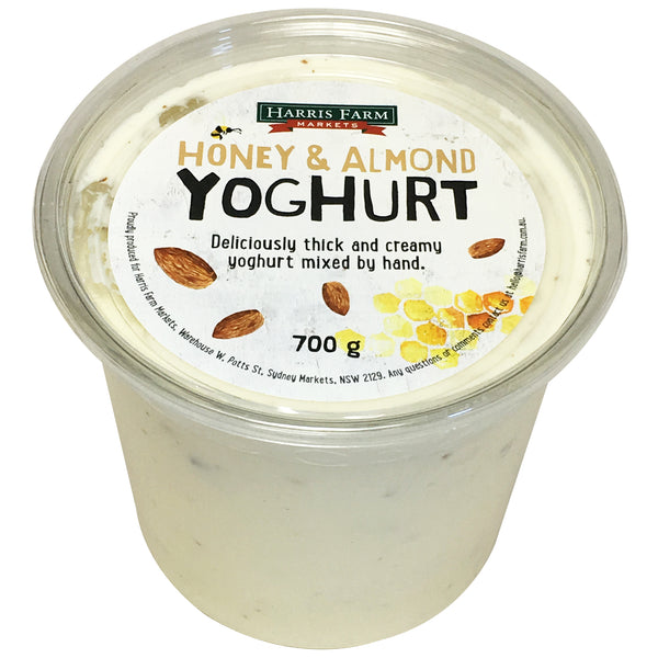 Harris Farm Yoghurt Honey and Almond 700g