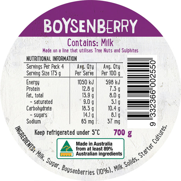 Harris Farm - Yoghurt Boysenberry (700g)