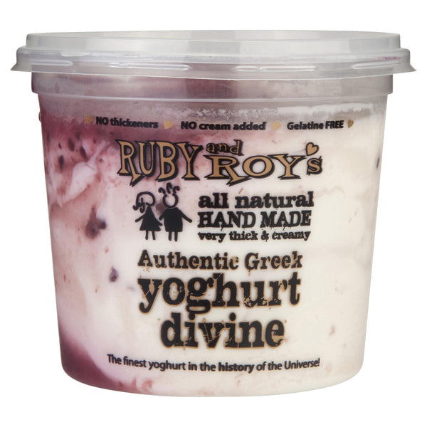 Ruby & Roy's Yoghurt Greek Boysenberry 350g , Frdg2-Dairy - HFM, Harris Farm Markets  - 1