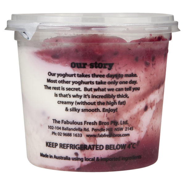 Ruby & Roy's Yoghurt Greek Boysenberry 350g , Frdg2-Dairy - HFM, Harris Farm Markets  - 2