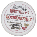 Ruby & Roy's Yoghurt Greek Boysenberry 350g , Frdg2-Dairy - HFM, Harris Farm Markets  - 3