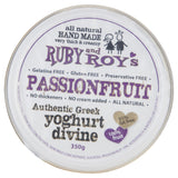 Ruby & Roy's Yoghurt Passionfruit Authentic Greek Divine 350g , Frdg2-Dairy - HFM, Harris Farm Markets  - 3