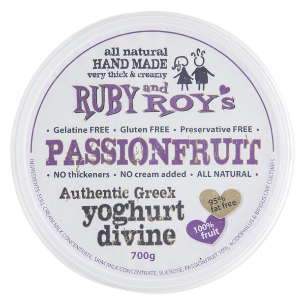 Ruby And Roys Yoghurt Divine Passionfruit 700g , Frdg2-Dairy - HFM, Harris Farm Markets  - 1