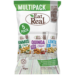 Eat Real Vegan Chips Multipack Hummus, Lentil and Quinoa Chips | Harris Farm Online
