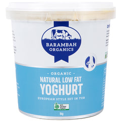 Barambah Organics - Yoghurt - Low Fat Natural (1kg)
