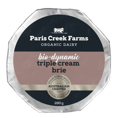 Paris Creek Farms Bio-Dynamic Triple Cream Brie | Harris Farm Online