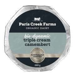 Paris Creek Farms Bio-Dynamic Triple Cream Camembert | Harris Farm Online