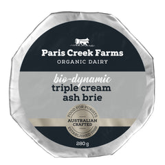 Paris Creek Farms Bio-Dynamic Triple Cream Ash Brie | harris farm Online