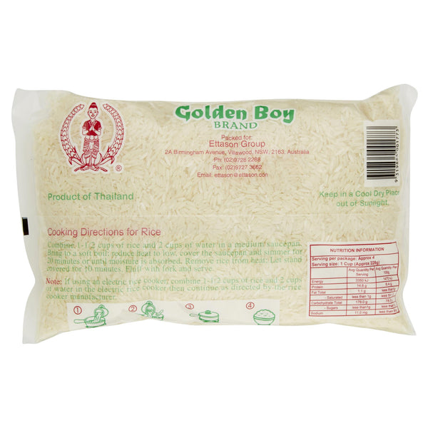 Golden Boy Jasmine Rice 1kg , Grocery-Cooking - HFM, Harris Farm Markets  - 2