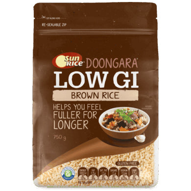 SunRice Brown Rice Low GI 750g