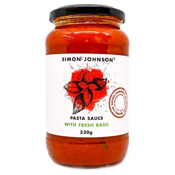 Simon Johnson - Pasta Sauce - Fresh Basil | Harris Farm Online