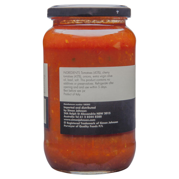 Simon Johnson - Pasta Sauce - Cherry Tomato  | Harris Farm Online