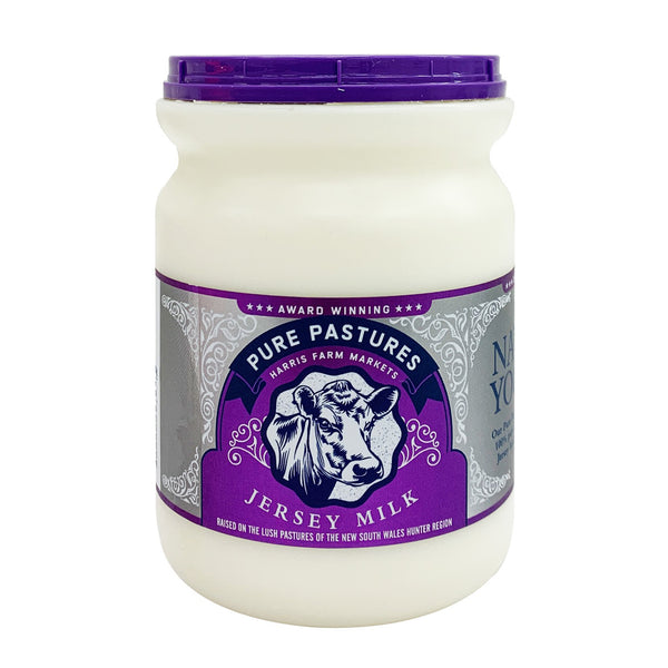 Harris Farm - Yoghurt Natural - Pure Pastures Jersey - Pot Set (500g)