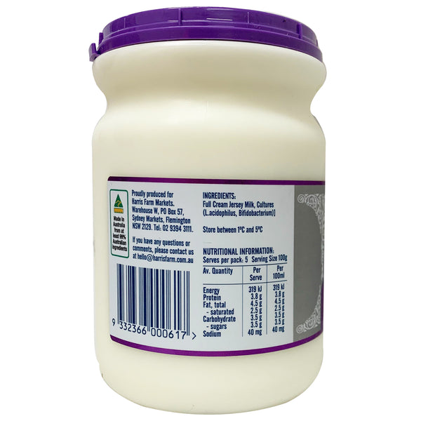 Pure Pastures Natural Yoghurt Jersey Milk 500g Pot | Harris Farm Online