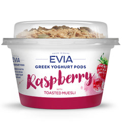 Evia - Greek Yoghurt Pods - Raspberry with Toasted Muesli | Harris Farm Online