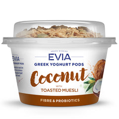 Evia - Greek Yoghurt Pods - Coconut with Toasted Muesli | Harris Farm Online