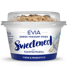 Evia Vanilla with Toasted Muesli Greek Yoghurt Pods | Harris Farm Online