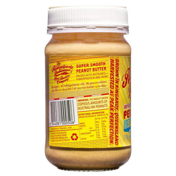 Ridiculously Delicious Peanut Butter Super Smooth 375g , Grocery-Condiments - HFM, Harris Farm Markets  - 2