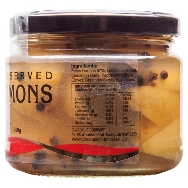 Classique Preserved Lemons 300g , Grocery-Can or Jar - HFM, Harris Farm Markets  - 3