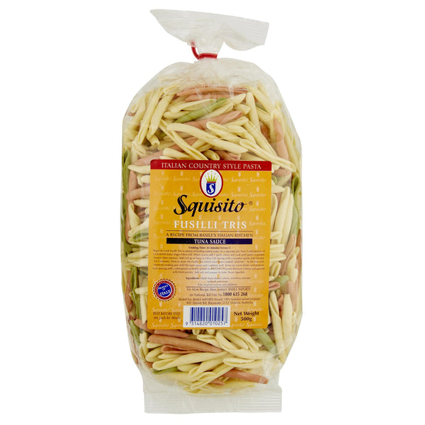 Squisito Fusilli 3 Colour 500g , Grocery-Pasta - HFM, Harris Farm Markets  - 1