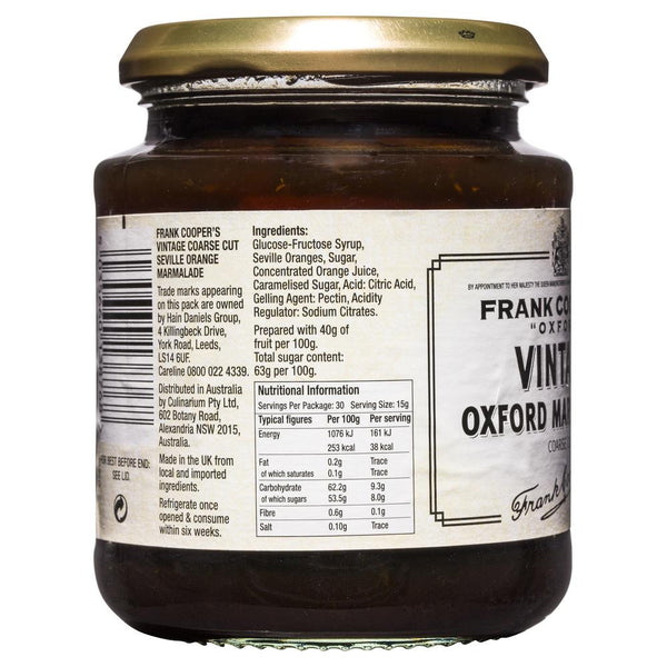 Frank Coopers Coarse Cut Vintage Oxford Marmalade 454g , Grocery-Spreads - HFM, Harris Farm Markets  - 2
