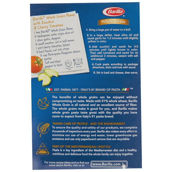 Barilla Wholemeal Penne 375g , Grocery-Pasta - HFM, Harris Farm Markets  - 3