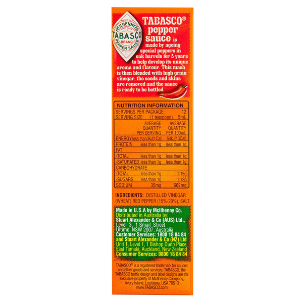 Mcilhenny Tobasco Sauce 60ml , Grocery-Cooking - HFM, Harris Farm Markets  - 3