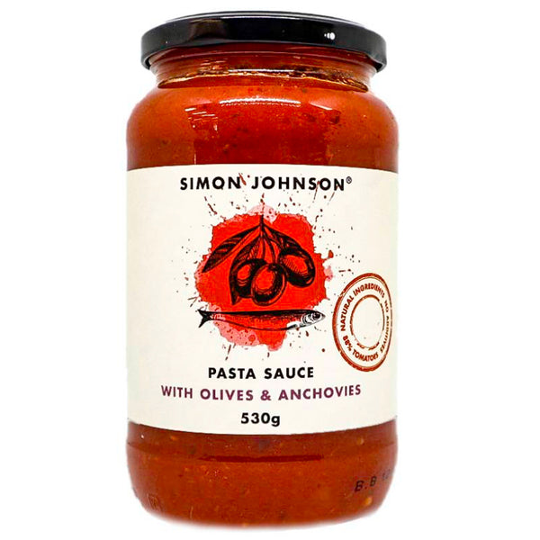 Simon Johnson - Pasta Sauce - Olives and Anchovies (530g)