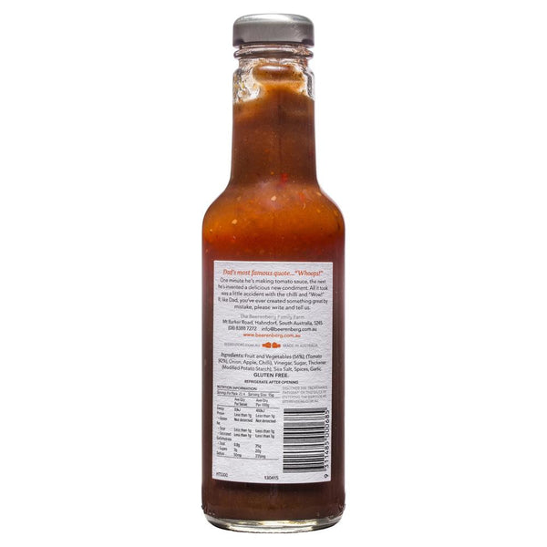 Beerenberg Hot Tomato Sauce 300ml , Grocery-Cooking - HFM, Harris Farm Markets  - 2