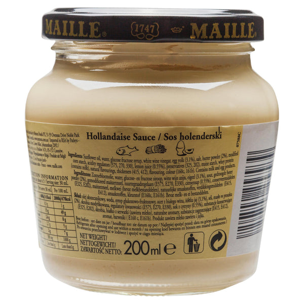 Maille Sauce Hollandaise 200ml , Grocery-Cooking - HFM, Harris Farm Markets  - 2