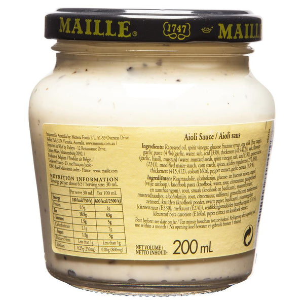 Maille Aioli 200ml , Grocery-Cooking - HFM, Harris Farm Markets  - 2