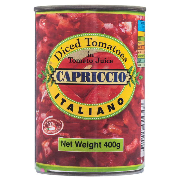 Capriccio Diced Tomatoes 400g , Grocery-Can Veg - HFM, Harris Farm Markets  - 1