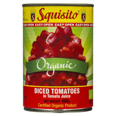 Squisito Organic Diced Tomatoes Tomato Juice 400g , Grocery-Can or Jar - HFM, Harris Farm Markets  - 1