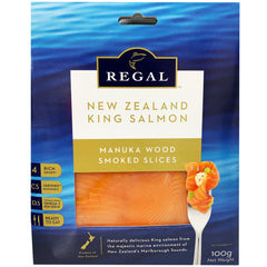 Salmon - Manuka Wood Smoked Slices - NZ King Salmon (100g) Regal