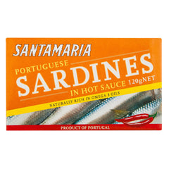 Santamaria Sardines Hot 120g , Grocery-Can or Jar - HFM, Harris Farm Markets  - 1