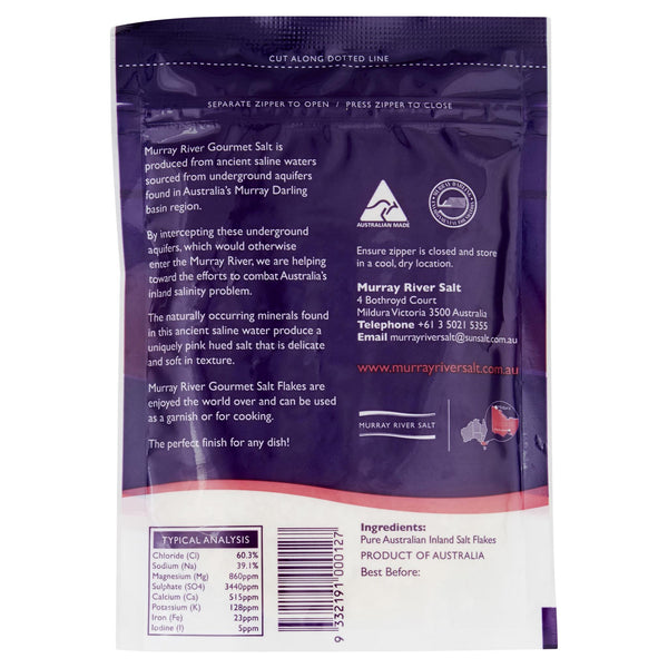 Murray River Salt Pouch 150g , Grocery-Cooking - HFM, Harris Farm Markets  - 2