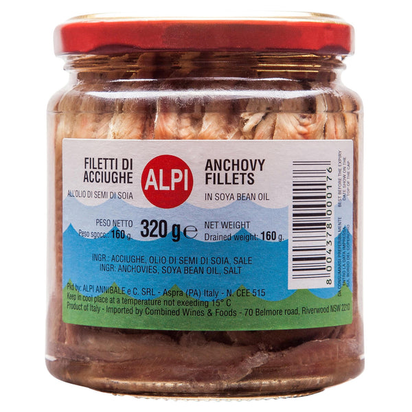 Alpi Anchovies Plain 320g , Grocery-Can or Jar - HFM, Harris Farm Markets  - 1