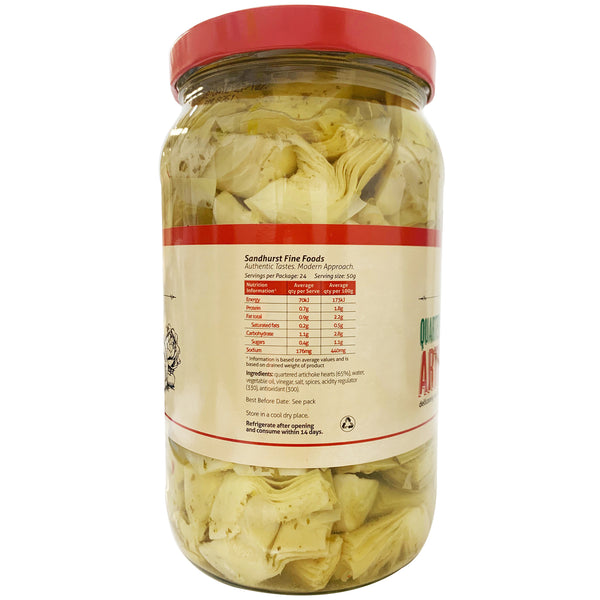 Sandhurst Artichoke Hearts Quartered and Marinated 1.9kg