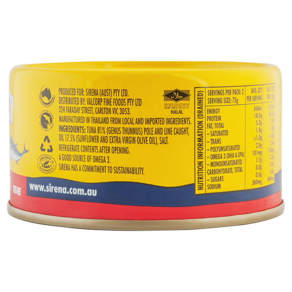 Sirena Tuna In Oil Italian Style 185g , Grocery-Seafood - HFM, Harris Farm Markets  - 2