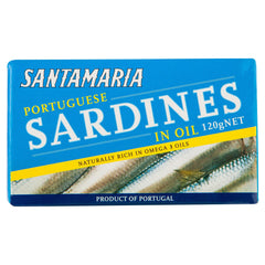 Santa Maria Sardines Oil 120g , Grocery-Can or Jar - HFM, Harris Farm Markets  - 1