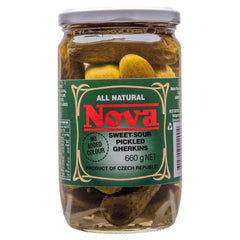 Nova Antipasti Gherkins Sweet And Sour 660g , Grocery-Condiments - HFM, Harris Farm Markets  - 1