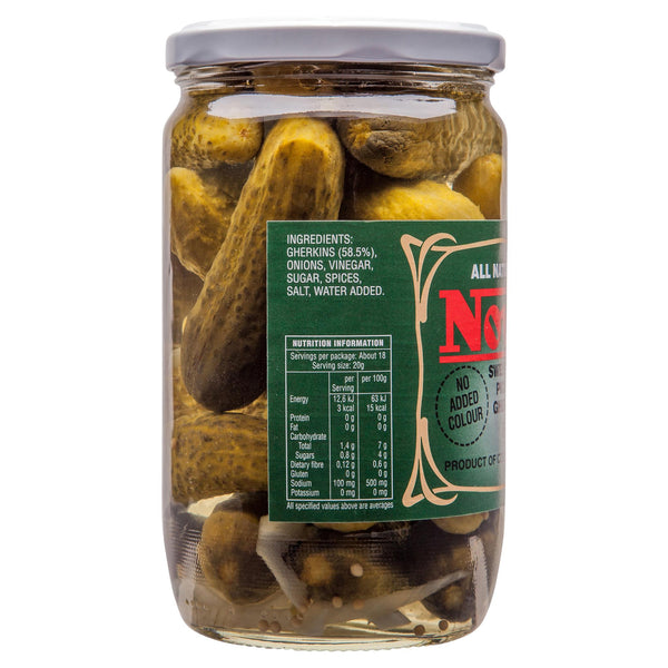 Nova Antipasti Gherkins Sweet And Sour 660g , Grocery-Condiments - HFM, Harris Farm Markets  - 3