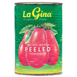 La Gina Whole Peeled Tomatoes 400g , Grocery-Can Veg - HFM, Harris Farm Markets  - 1