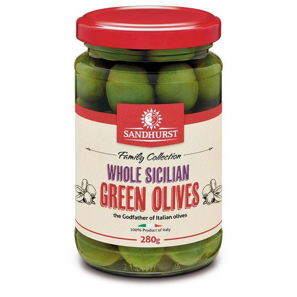 Sandhurst - Whole Sicilian Green Olives (280g)